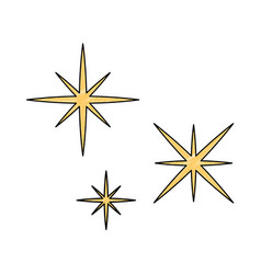 Starry sky scene icon vector