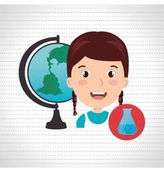 student map global school vector image
