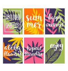 Summer card templates collection vector