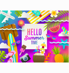 Summer holidays and beach vacation vector
