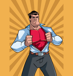 Superhero under cover casual and ray light vector
