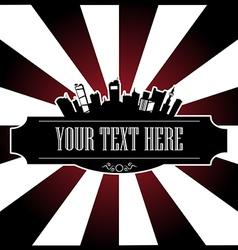 Text city vector