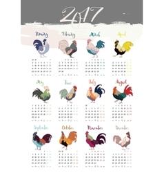 The 2017 calendar vector