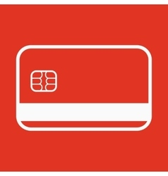 The credit card icon Bank Card symbol vector image