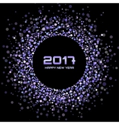 Violet New Year 2017 circle frame Background vector image