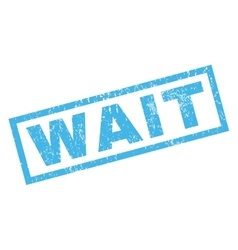 Wait Rubber Stamp vector