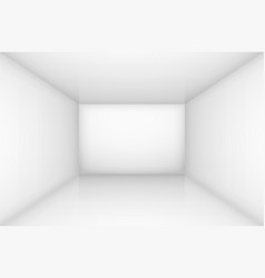white empty room interior for design vector image