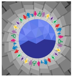 world and people vector image