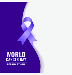 world cancer day concept awareness poster vector image