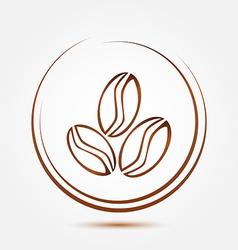 Brown coffee beans symbol vector