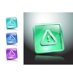 danger warning sign error icon caution vector image