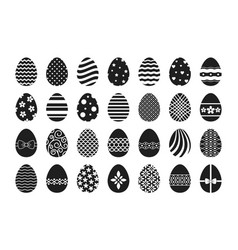 easter egg icons vector image