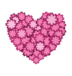 nice flowers in form heart decoration vector image