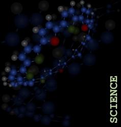 three dimensional molecule vector image