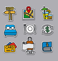 travel stickers and badges set vector image vector image