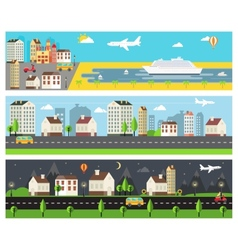 Cool Cartooned Banners vector image