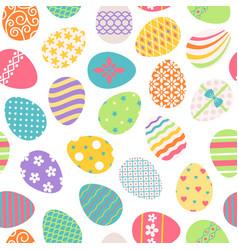 Easter eggs seamless pattern vector