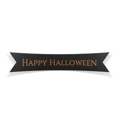 Happy Halloween black festive Ribbon vector image vector image