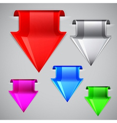 Labels made in the shape of the arrow set vector image