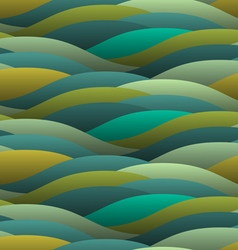 Background of abstract curled green waves vector