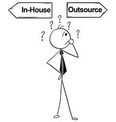 cartoon of business man doing in-house or vector image