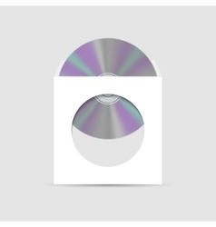 Envelope for CD with window vector image