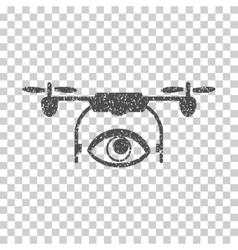 Eye Spy Drone Grainy Texture Icon vector image vector image