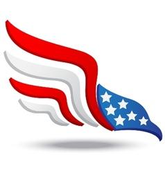 American eagle icon vector image