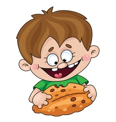 boy with a pie vector image