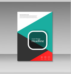 cover design for brochure template vector image