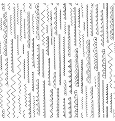 Hand drawn abstract pattern seamless vector