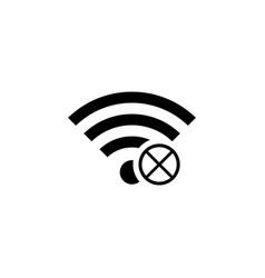 no signal icon vector image vector image