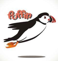 puffin bird 5 vector image vector image