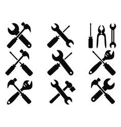 repair tool icons set vector image vector image