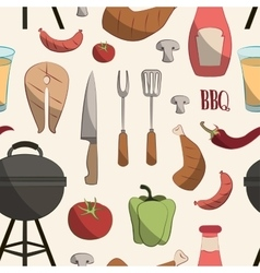 Set of barbecue pattern vector image