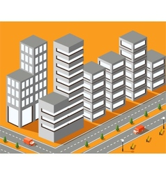 Town structure vector image vector image