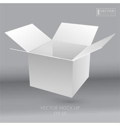 White empty box vector image vector image
