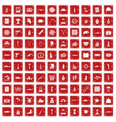 100 war crimes icons set grunge red vector