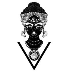 African voodoo woman vector