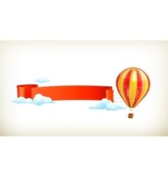 Air balloon banner vector