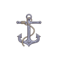 anchor icon isolated on white background -nautical vector image