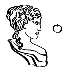 Ancient Greek goddess vector
