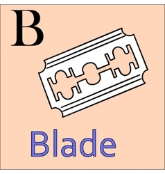 B letter alphabet Coloring book blade vector image