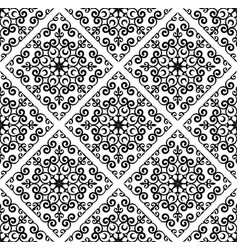 baroque pattern background vector image