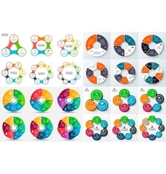 Big set of circle infographic vector