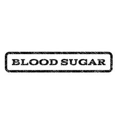 Blood sugar watermark stamp vector