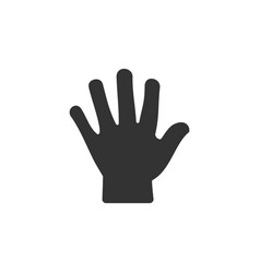 body senses tact hand icon on a white background vector image