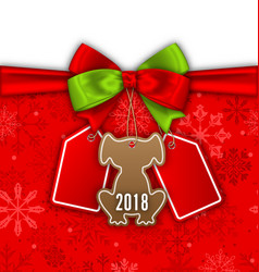 Bow ribbon with christmas labels tags sale vector
