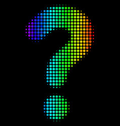 bright pixel question icon vector image