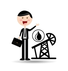 businessman oil concept pumping tower vector image vector image
